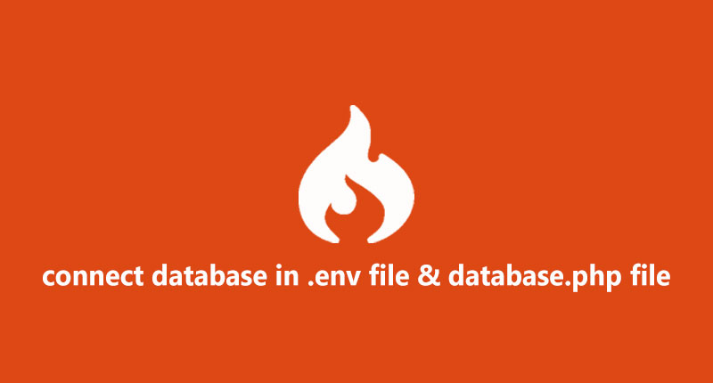How to connect database in codeigniter 4