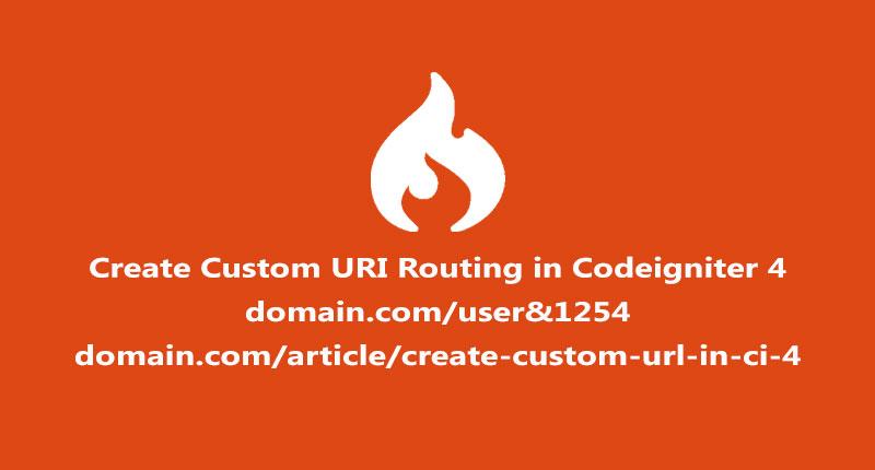 Create custom url routing in codeigniter 4