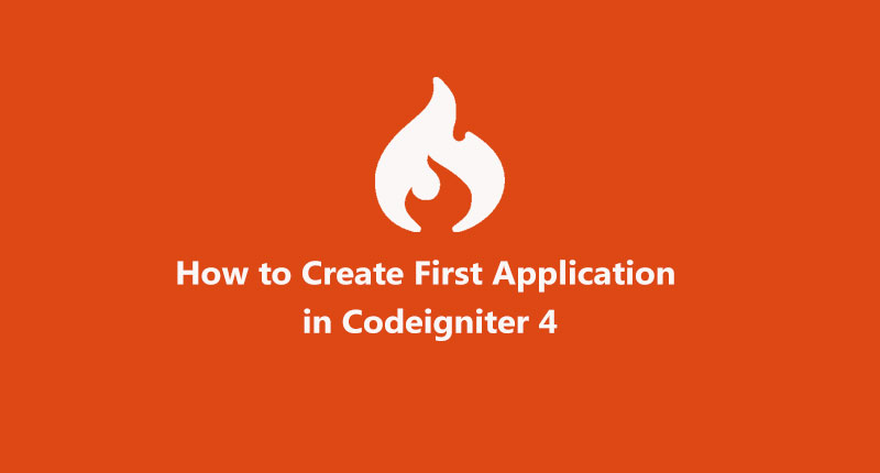 How to create first application in ci 4