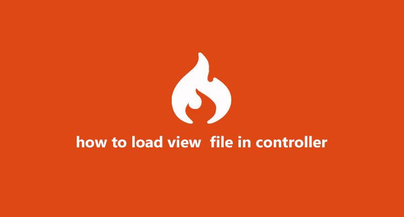 Load view file in controllers in codeigniter 4