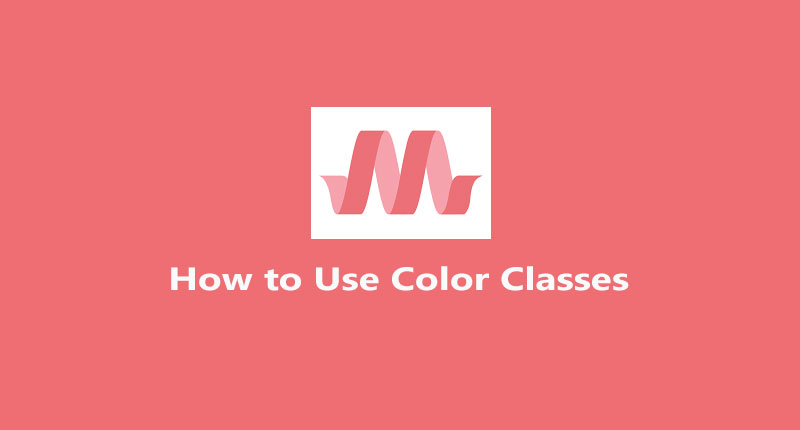 How to use materialize colors classes