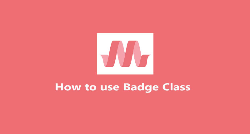 Materialize badges   how to use badge class