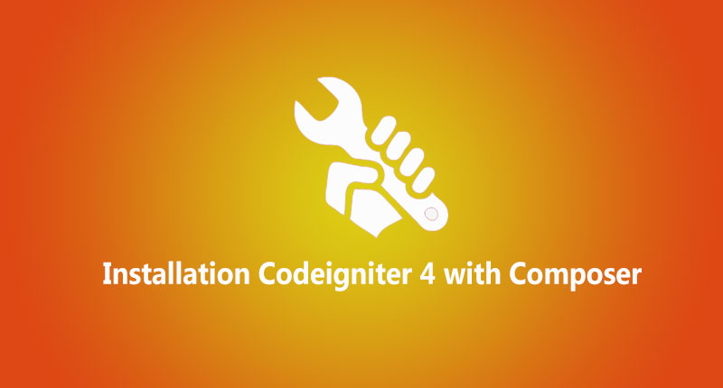 Install codeigniter 4  with composer  and manual